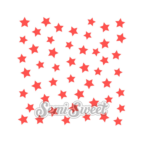 Scattered Stars Stencil
