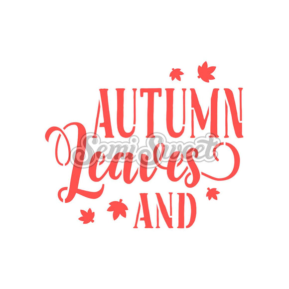 Autumn Leaves & Pumpkins Please Stencil Set
