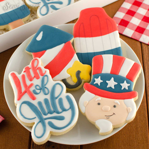 Thin 4th of July Script Cookie Cutter