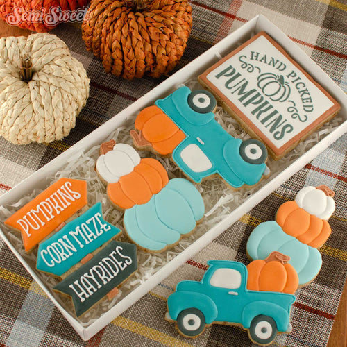 fall farmhouse cookie cutters in boxes