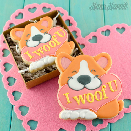 Corgi with Heart Cookie Cutter