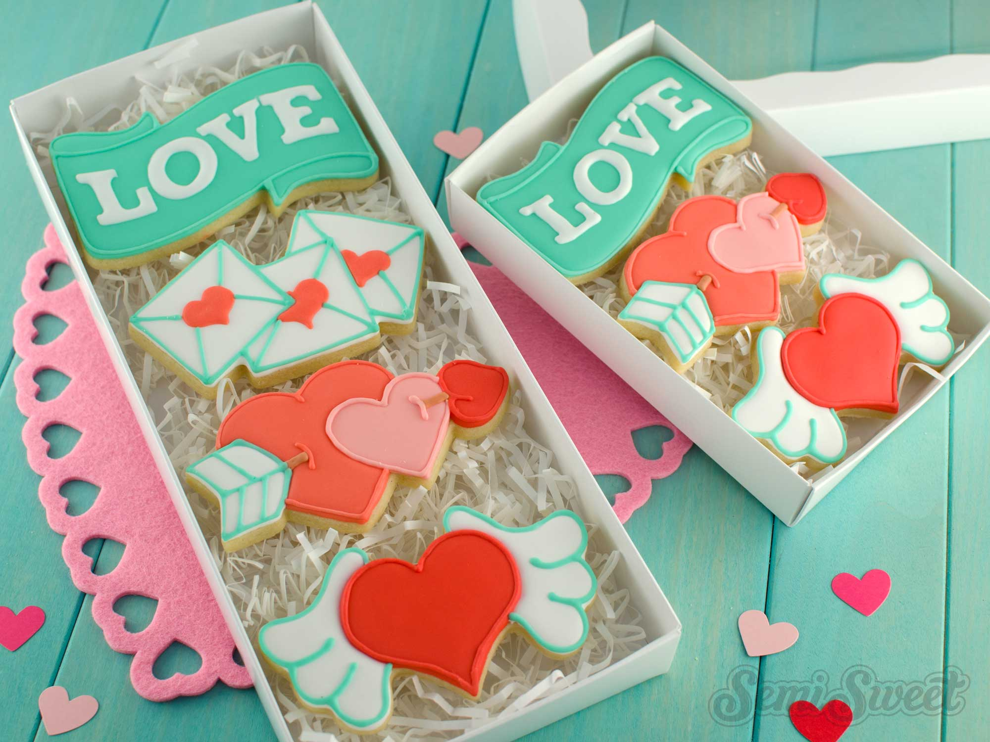 Valentine Banner Cookie Cutter