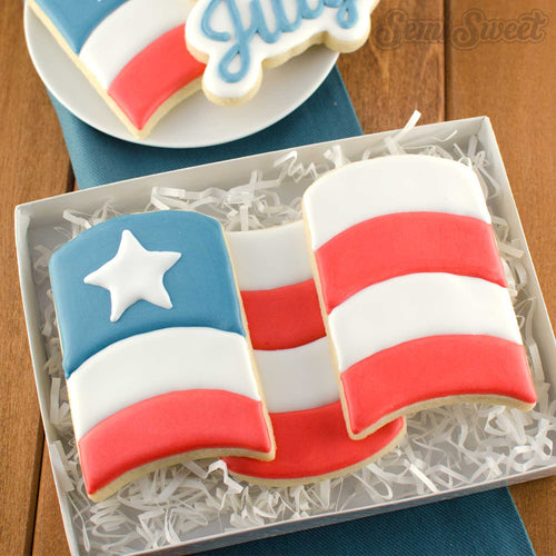 Wavy Flag Cookie Cutter