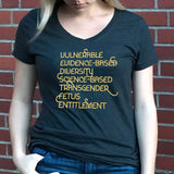 CDC Banned Words Fitted T-Shirt