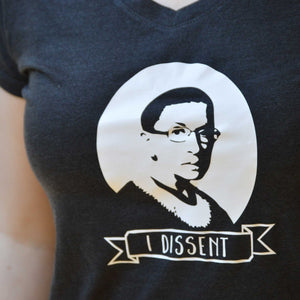 I Dissent Ruth Bader Ginsberg Fitted Tee