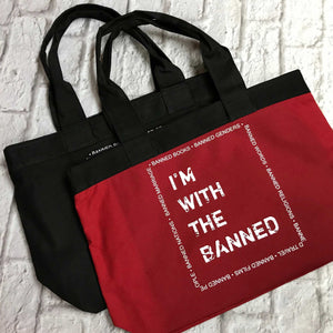 I'm with the Banned Zipper Tote Bag