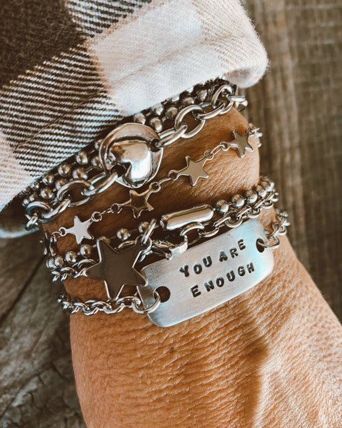 Hand Stamped YOU ARE ENOUGH Bracelet