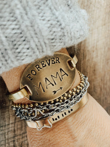 Hand Stamped Forever Mama Bangle