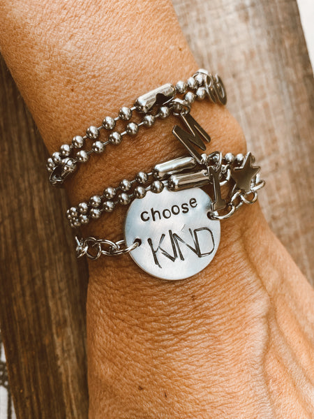Choose Kind Hand Stamped Sterling Silver Bracelet
