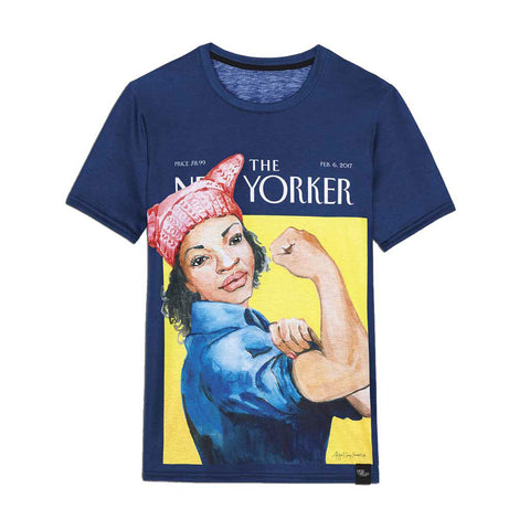 "The New Yorker Women's Crew Tee ""The March,"" By Abigail Gray Swartz"