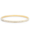 Simple Goldtone Finish Crystal Bangle - Opulent Lifestyle