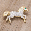 Two-Tone Horse Brooch - Opulent Lifestyle