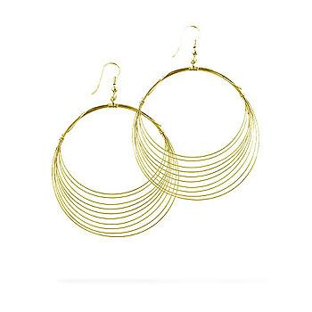Golden Crest Hoop Earrings - Opulent Lifestyle