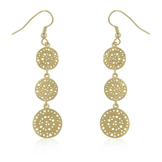 Golden Filigree Circle Earrings - Opulent Lifestyle