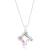 Myra Necklace 10ct Multicolor Rhodium Necklace - Opulent Lifestyle