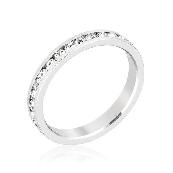 Stylish Stackables Clear Crystal Crystal Ring - Opulent Lifestyle