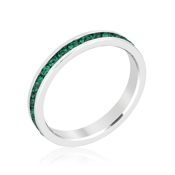 Emerald Swarovski Crystals Stackable Eternity Ring - Opulent Lifestyle