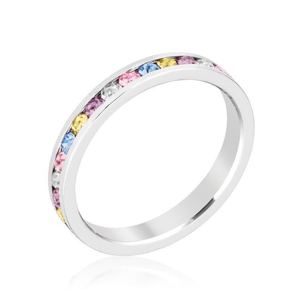 Mixed Crystal Swarovski Stackable Eternity Ring - Opulent Lifestyle