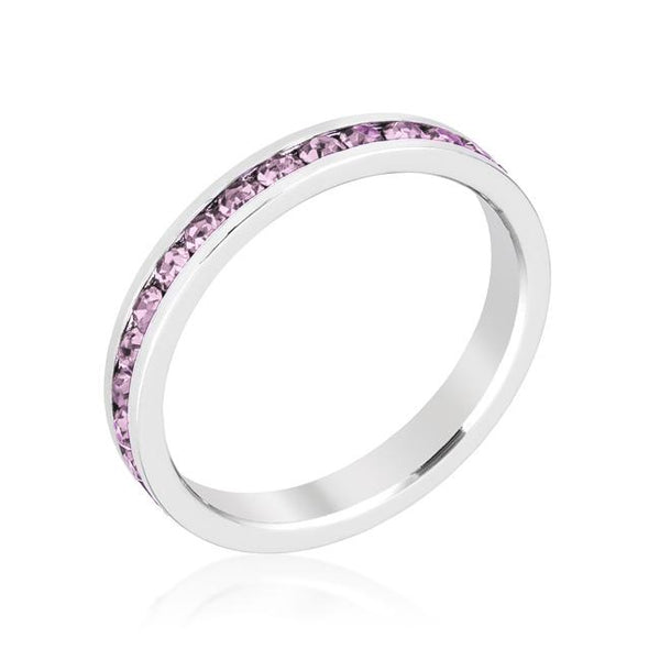 Lavender Swarovski Crystals Stackable Eternity Ring - Opulent Lifestyle