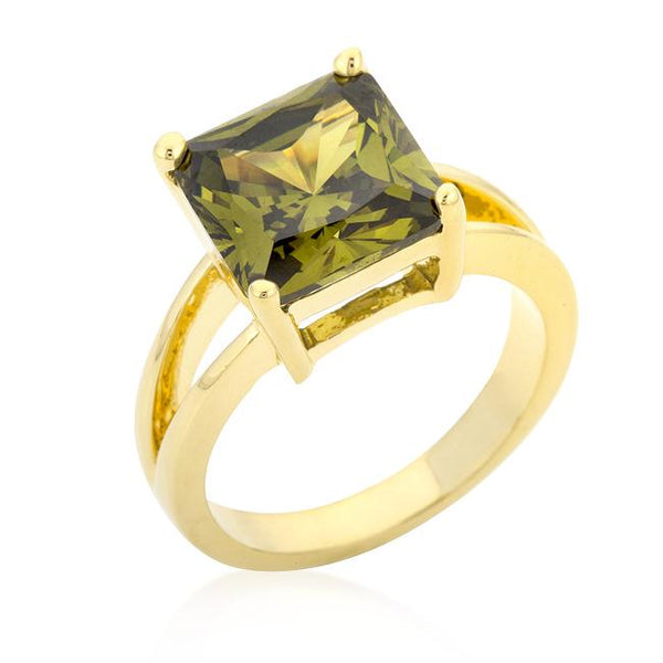 Olive Green Gypsy Cocktail Ring - Opulent Lifestyle
