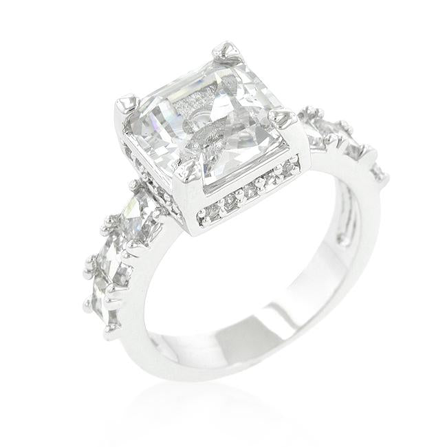 Asscher Cut Engagement Ring - Opulent Lifestyle