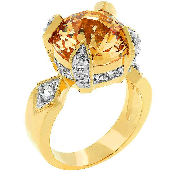 Champagne Brilliance Ring - Opulent Lifestyle