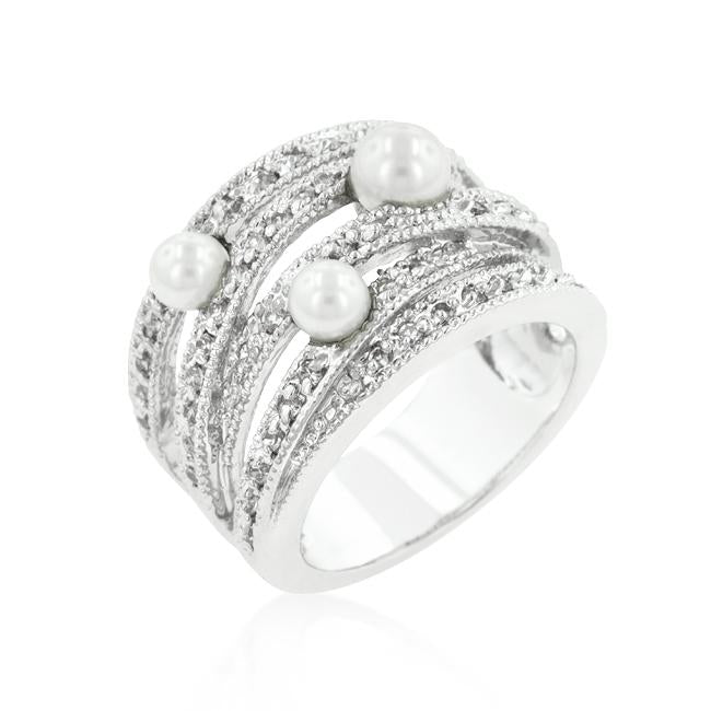 Pearl Twist Bridal Ring - Opulent Lifestyle
