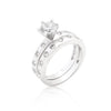 Round Cut Bezel Bridal Set - Opulent Lifestyle
