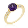 Purple Sunset Sparkle Cocktail Ring - Opulent Lifestyle