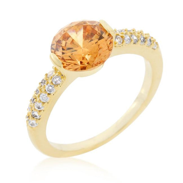 Sunset Sparkle Cocktail Ring - Opulent Lifestyle