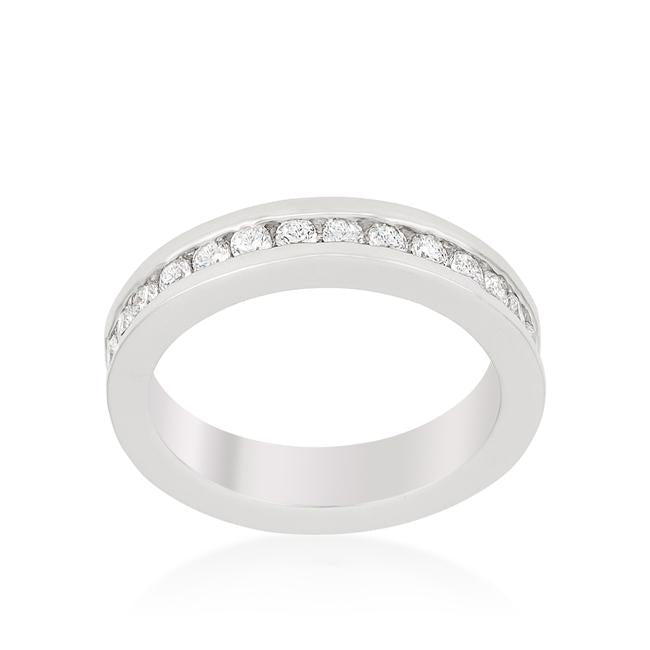 Channel Set CZ Eternity Ring Band - Opulent Lifestyle