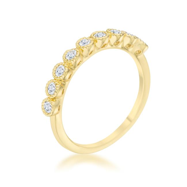 Bea 0.27ct CZ 14k Gold Delicate Band - Opulent Lifestyle