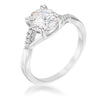 1.3ct Rhodium Plated Simple Engagement Ring - Opulent Lifestyle