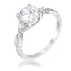 1.45ct Rhodium Plated Classic Vine Engagement Ring - Opulent Lifestyle