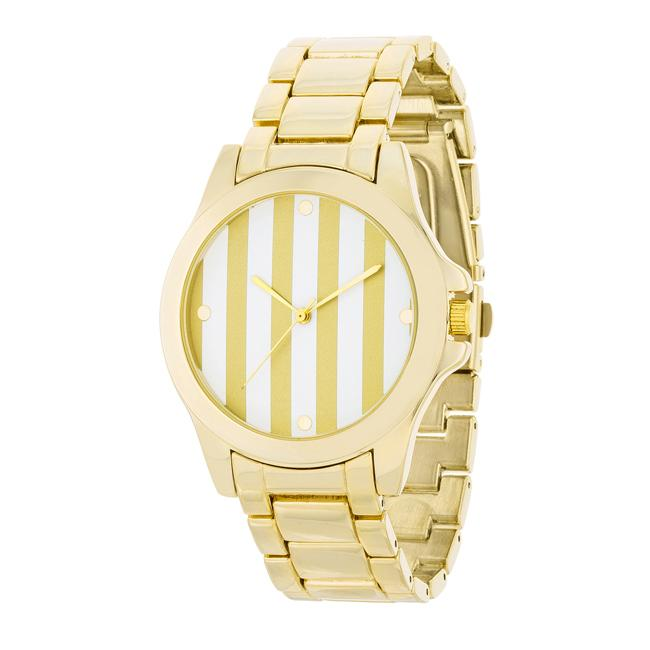 Gold Watch - Gold Stripe Dial - Opulent Lifestyle