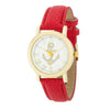 Natalie Gold Nautical Watch With Red Leather Band - Opulent Lifestyle