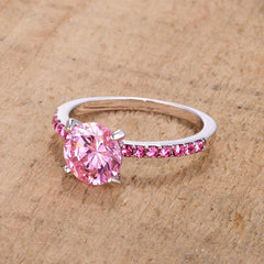 Pink Sparkle Cocktail Ring - Opulent Lifestyle