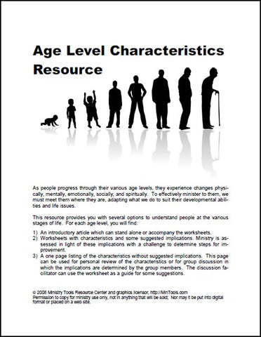 Age Level Development Resources as Downloads