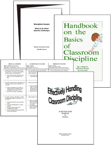 Classroom Discipline Resources as Downloads
