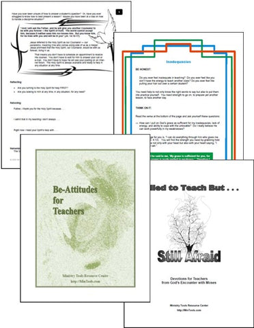 Teacher Training Devotionals as Downloads