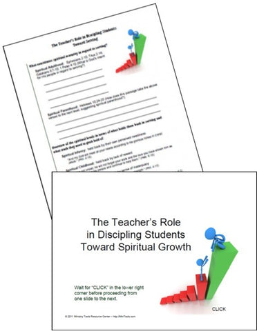 Teacher Discipleship Resources as Downloads