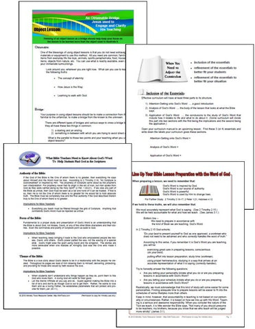Teacher Training Worksheets as Downloads