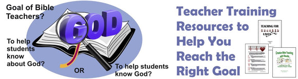 Bible Teachers Training Resources