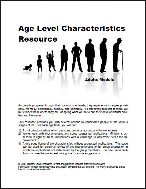 Adults Age Level Characteristics Module
