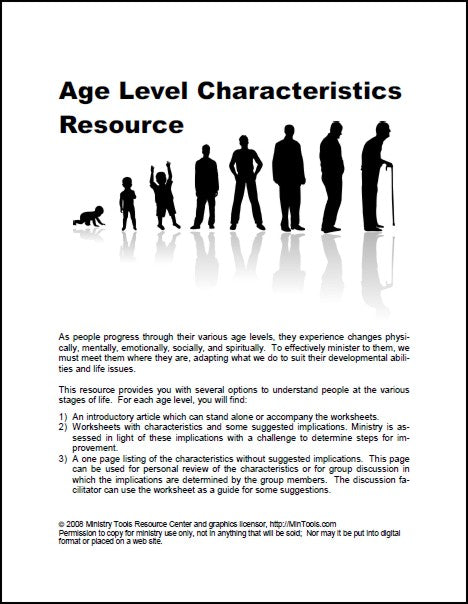 Age Level Characteristics Resource - All Modules