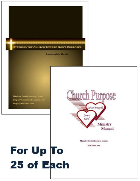 Church Purpose Bundle Download to Print Each for a Group of 25
