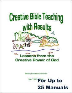 Creative Bible Teaching Workbook to Use with Teaching Team