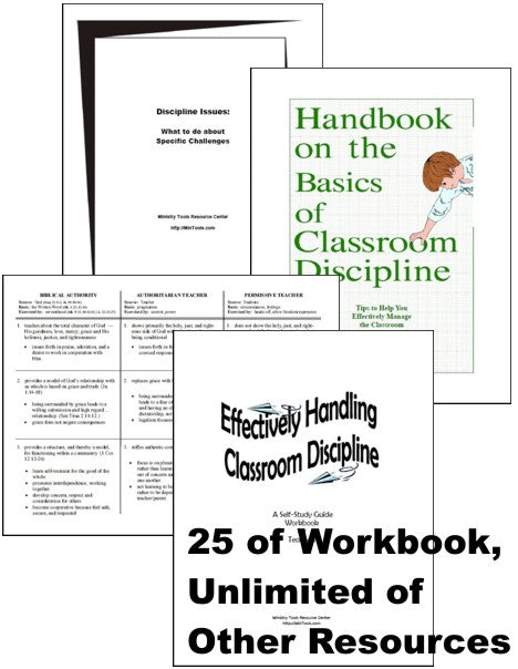 Classroom Discipline Download Bundle for Children's Workers