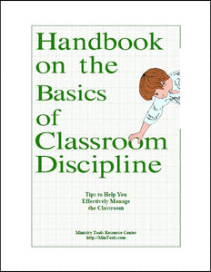 Handbook on the Basics of Classroom Discipline