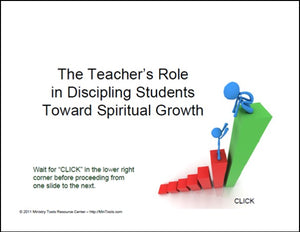 Teacher's Role in Discipling Students PowerPoint – Ministry Tools